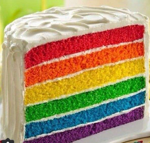 Fetta torta Arlecchino perfetta
