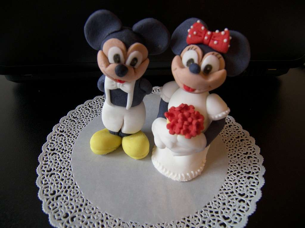 Decorazione Minnie sposa