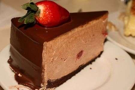 Fetta di torta al mascarpone