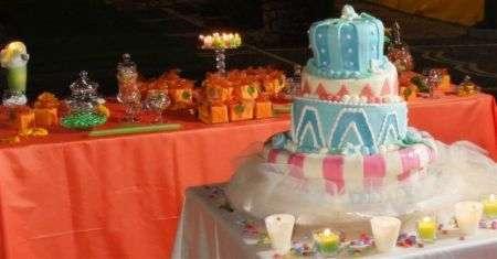 Buffet prima comunione con torta