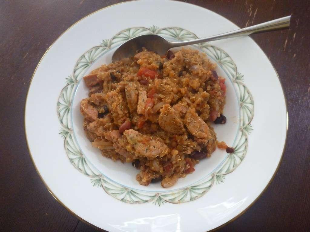 Carne stufata con quinoa