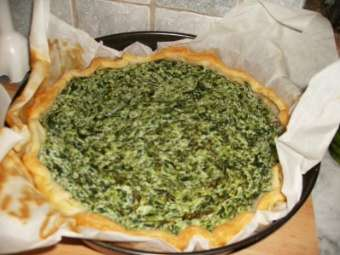 Torta salata con verdure estive