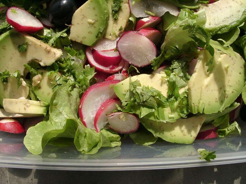 Avocado salad con rapanelli