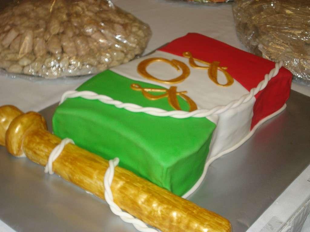 Bandiera con asta per torta