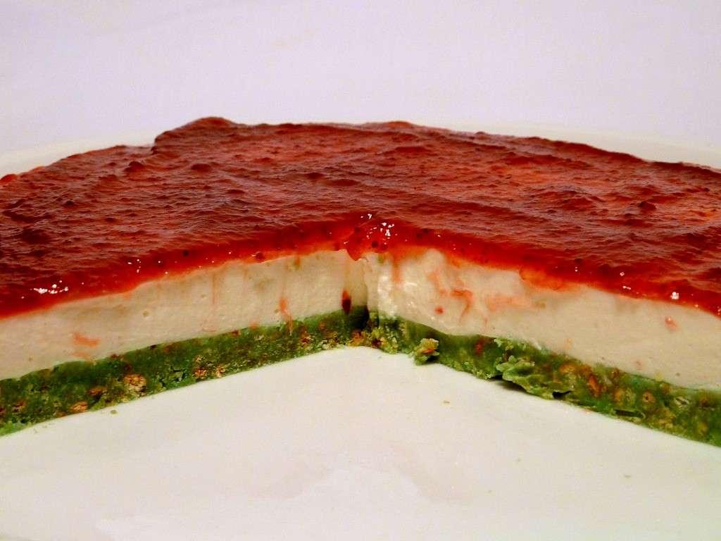 Cheesecake tricolore