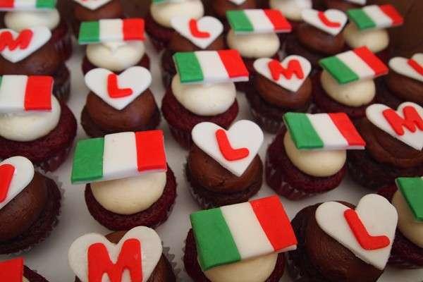 Cupcakes dell'Italia come decorazione