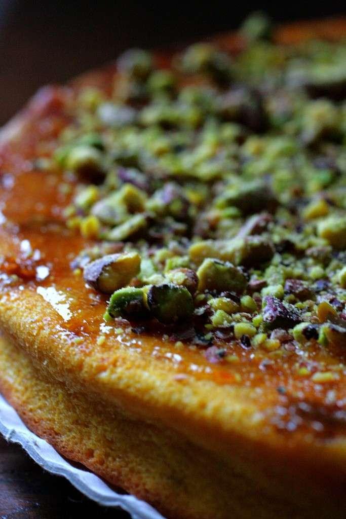 Granella di pistacchio per torta all'arancia