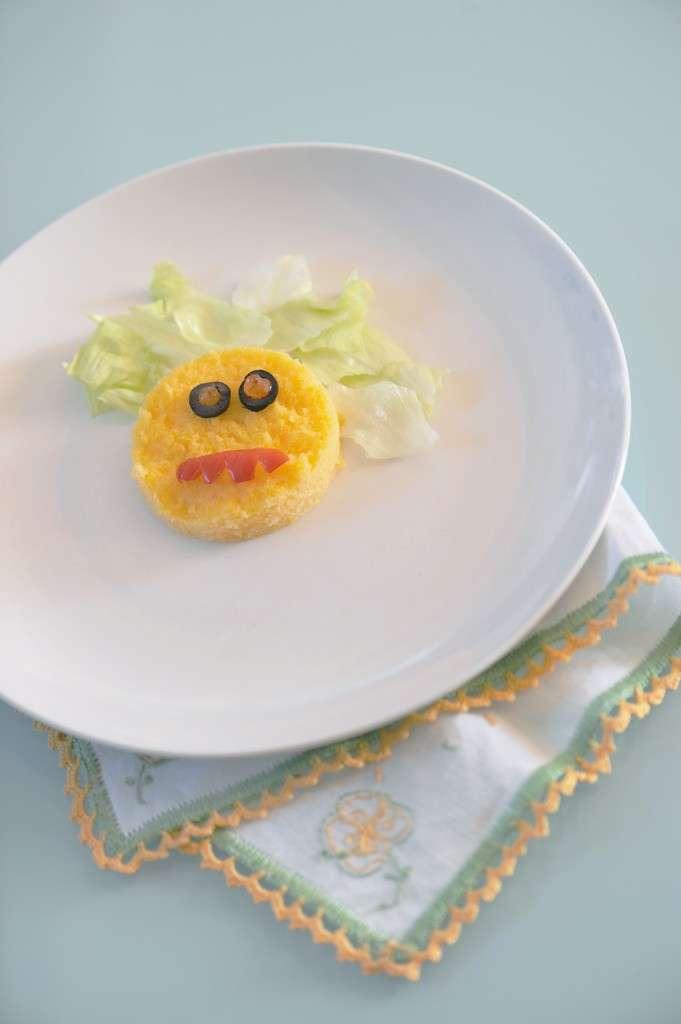 Faccina di polenta per Halloween