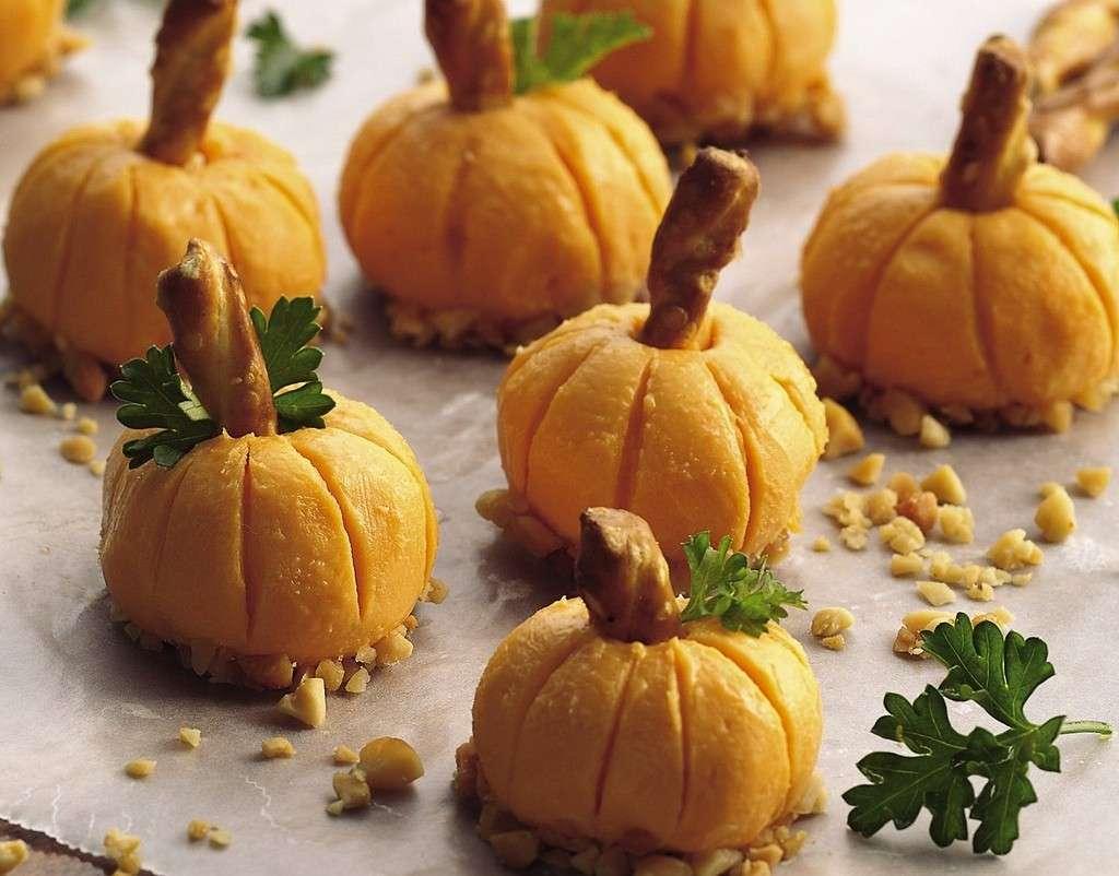 Zucche di formaggio per Halloween