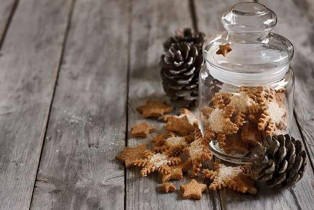 Barattolo di vetro per biscotti