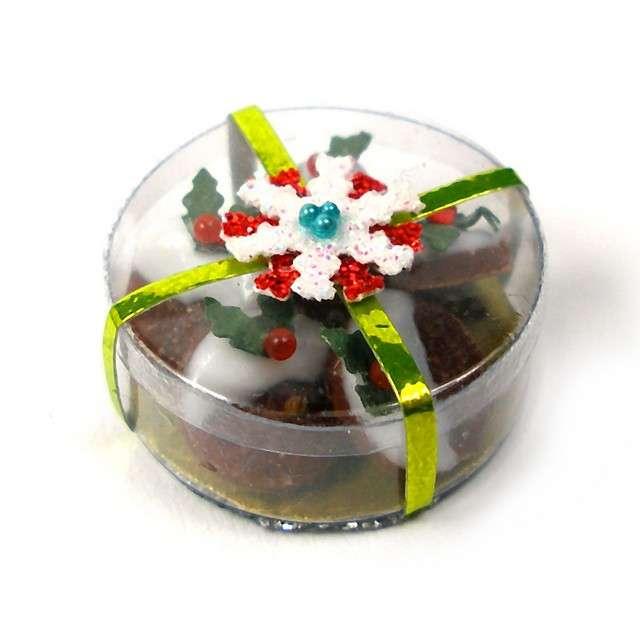 Barattolo trasparente per dolci di Natale
