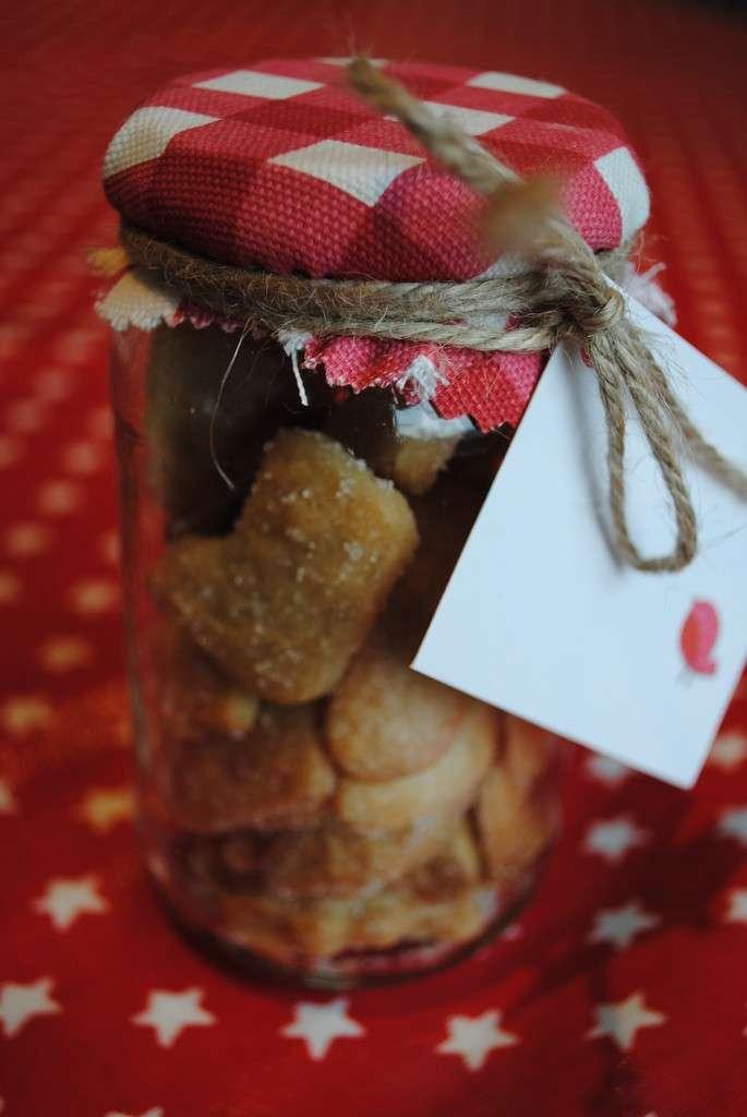 Biscotti di Natale in barattolo di vetro