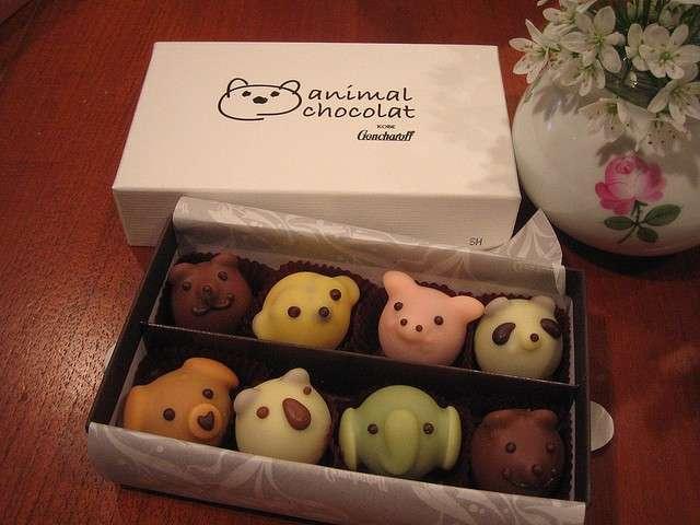 Cioccolatini a forma di animali