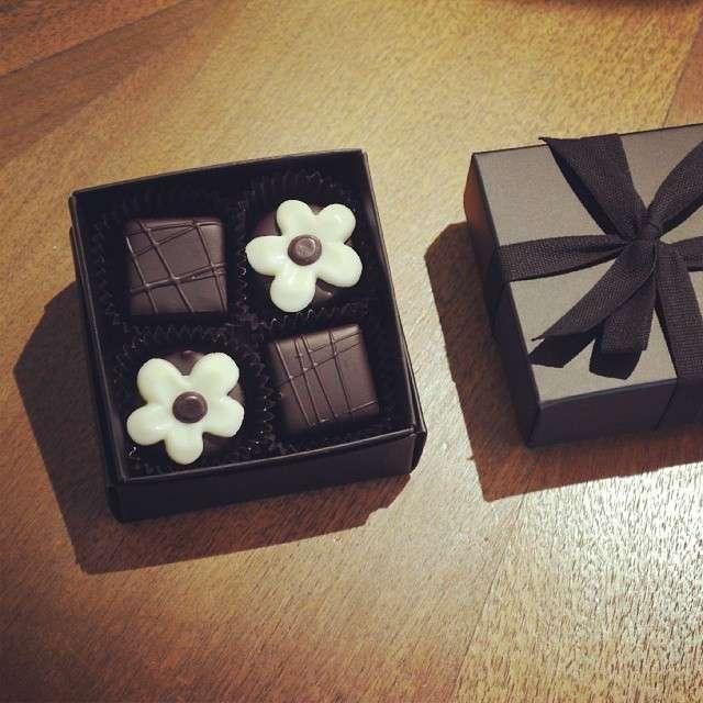 Cioccolatini a forma di rosa