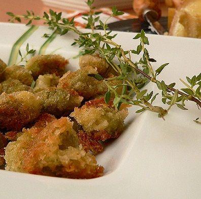 olive farcite con formaggio e fritte