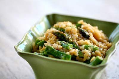 orzo con asparagi e gamberetti