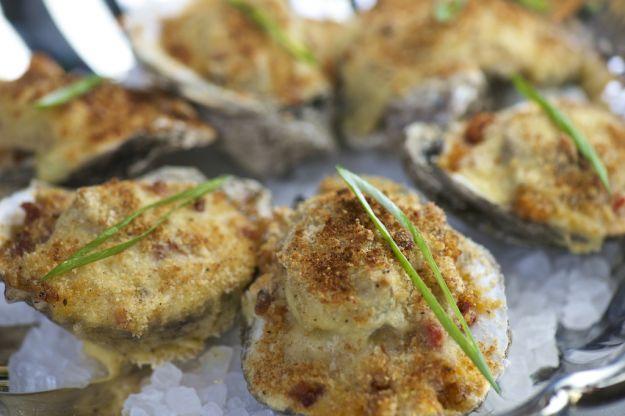 ostriche capesante gratinate