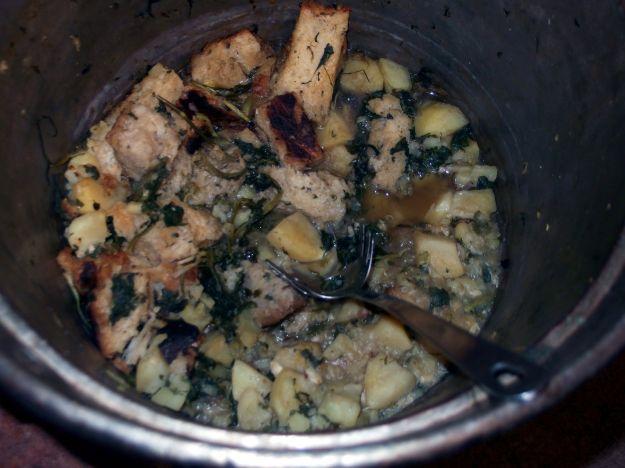 pancotto con patate e rucola