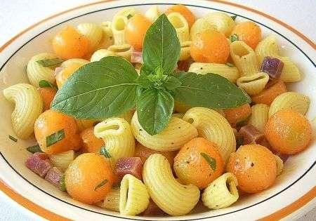 pasta fredda con prosciutto melone