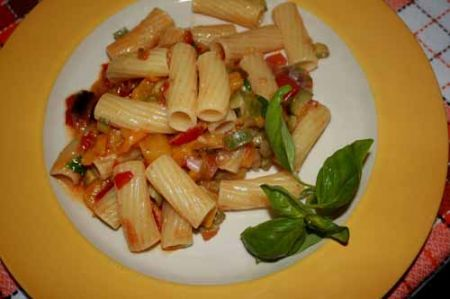 pasta fredda ragu verdure