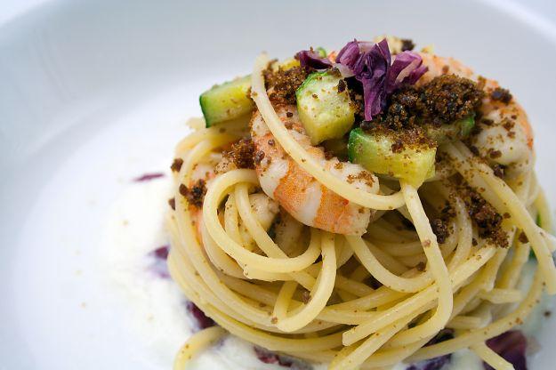 pasta gamberi zucchine bimby