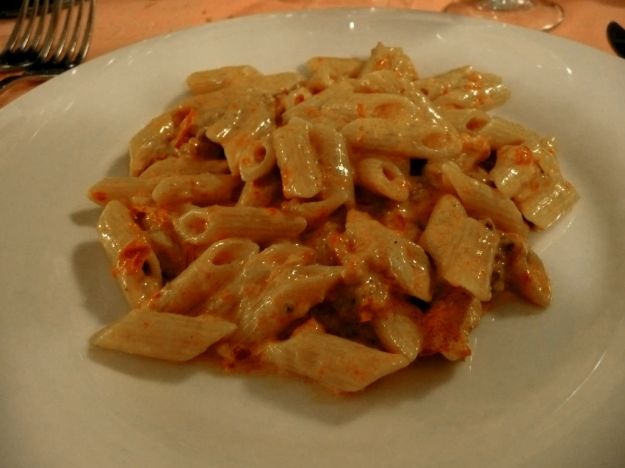 penne pancetta e curry