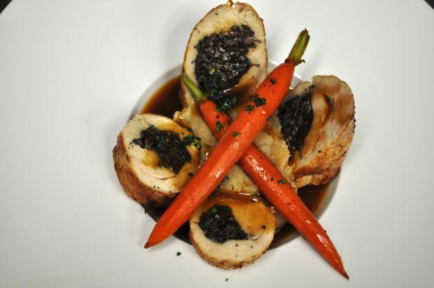 petti di pollo con spinaci e mozzarella