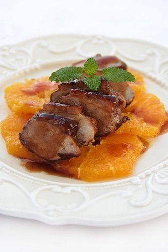 petto di anatra in salsa di arancia