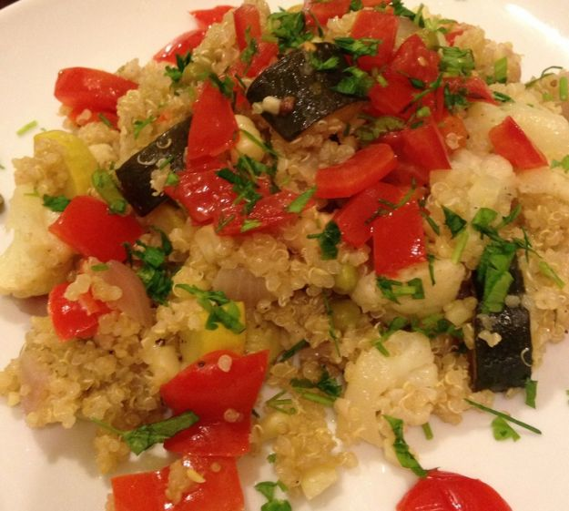 pilaf quinoa verdure