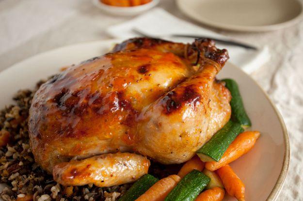 Pollo ripieno di riso