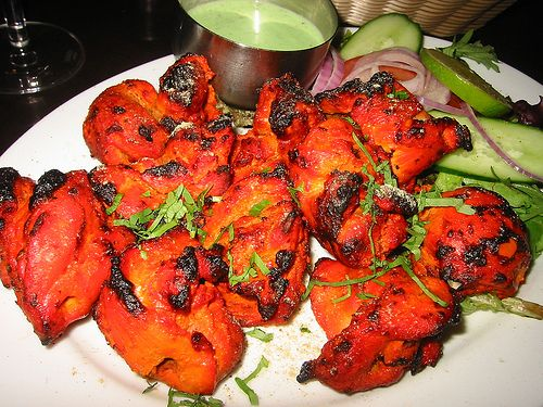 pollo tandoori piatto etnico