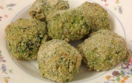 polpette broccoli e forgmaggio