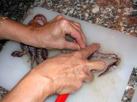Eliminate le ventose dai tentacoli