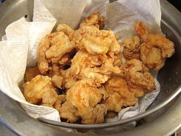 Gamberi fritti in pastella