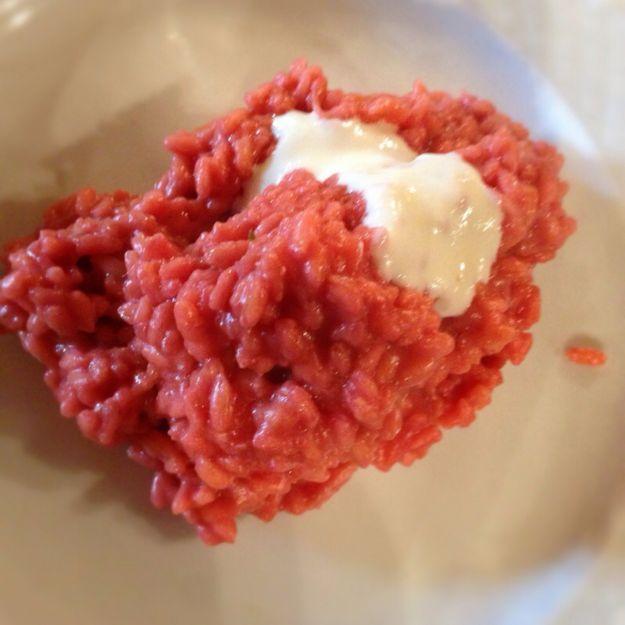 risotto rosa con barbabietola