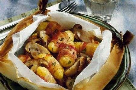 Rotolini di patate e speck