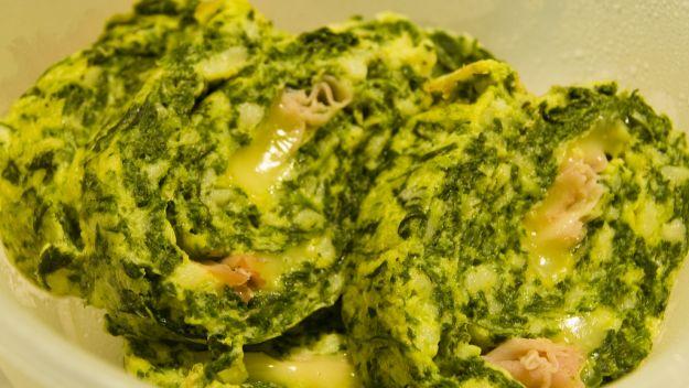 rotolo spinaci prosciutto