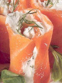 Involtini di salmone e panna