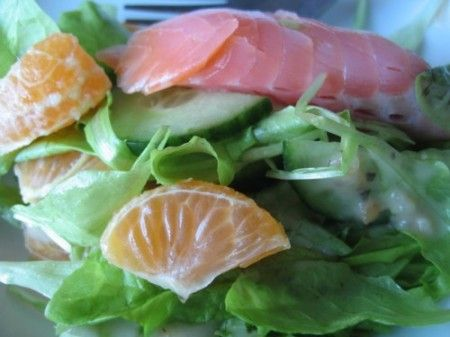 Salmone con mandarini