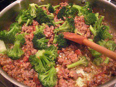 salsicce e broccoli