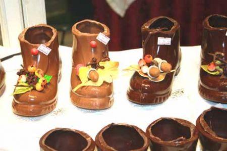 scarpette di cioccolato decorate