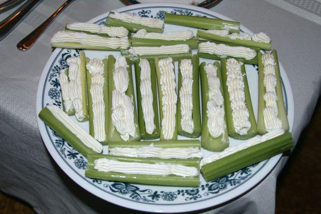 sedano e gorgonzola