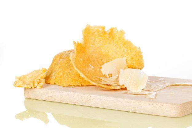Fave in cestini di parmigiano