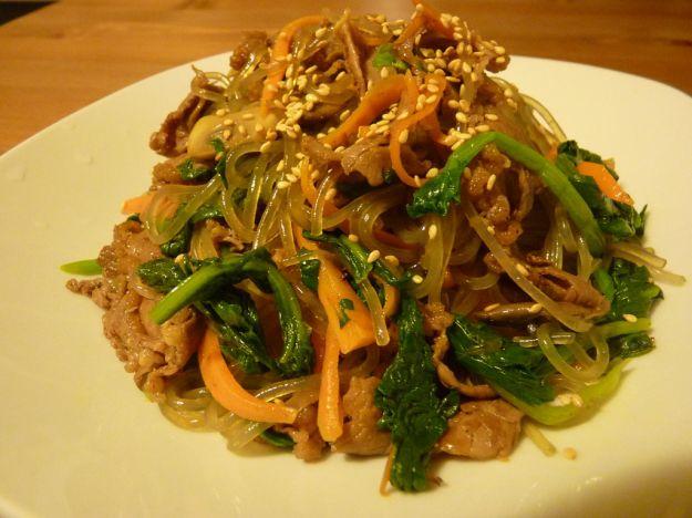 spaghetti di soia con verdure 1