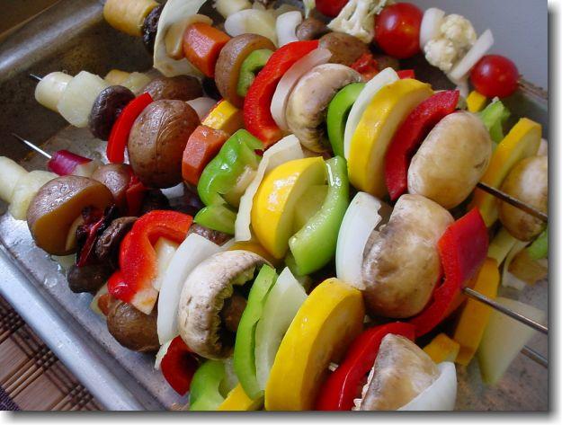 Spiedini di verdura allo zafferano