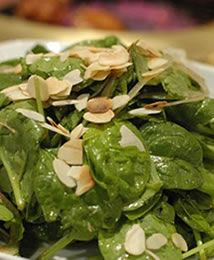 spinaci con mandorle