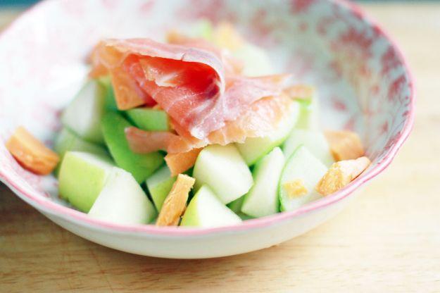 stuzzichini mela salmone