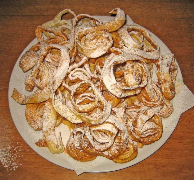 tagliatelle fritte carnevale
