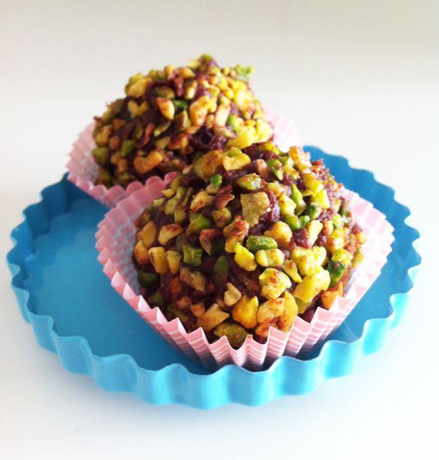 tartufi di cioccolato al pistacchio