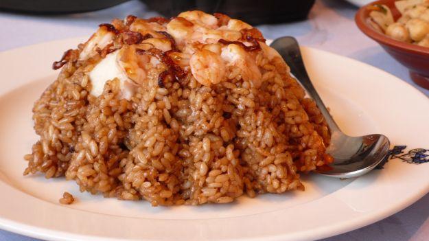 timballo di riso e pesce
